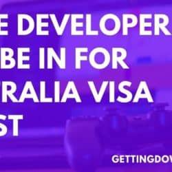 Game Developer Australia Visa Boost