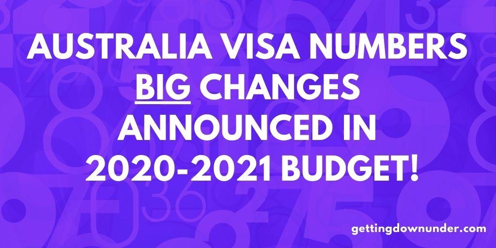 Australia Visa Numbers 2020-2021 Budget