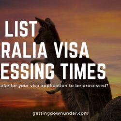 Current Australia Visa Processing Times - All Visas