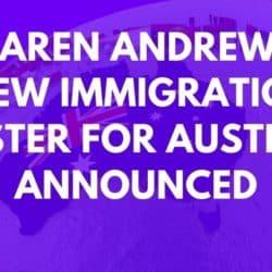 Karen Andrews Australian Immigration Minister