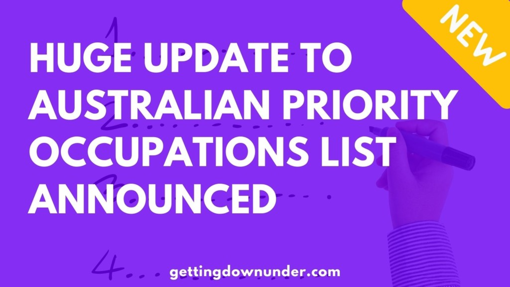 Huge Update To Australian Priority Occupations List Announced